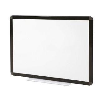 Tableau blanc émaillé cadre noir