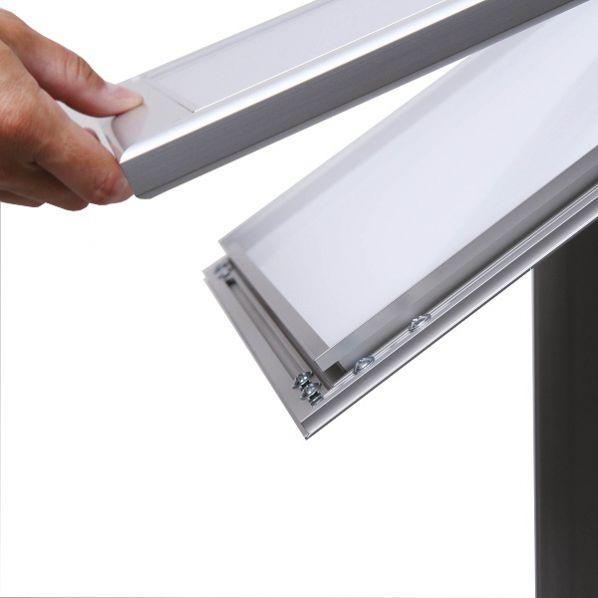 Portemenu Sur Pied Dextérieur Et à éclairage LED ROLLECO - Porte menu exterieur