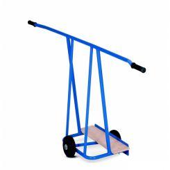 Chariot porte-panneaux avec plateau bois