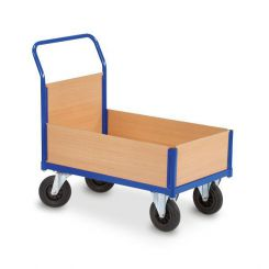 Chariot de manutention à rebords bois - 900 x 560 mm