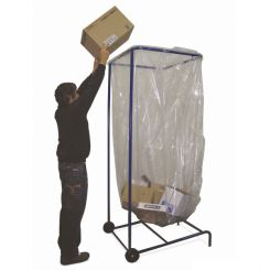 Support sac poubelle grand volume 1000 à 2500 litres