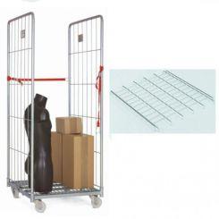 Roll conteneur 2 cotés | 2 étagères | hauteur 1800 mm