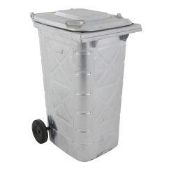 Conteneur poubelle galvanisé - 240 litres