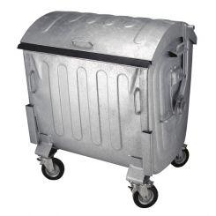 Conteneur poubelle galvanisé - 1100 litres