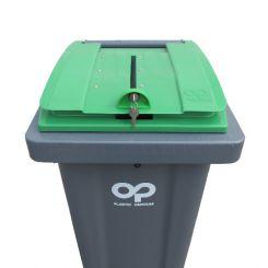 Conteneur poubelle pour papiers confidentiels - 140 litres