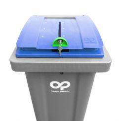 Conteneur déchets pour papiers confidentiels - 240 litres