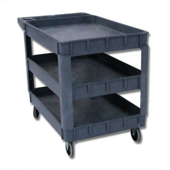 desserte plastique 3 niveaux roll. Black Bedroom Furniture Sets. Home Design Ideas