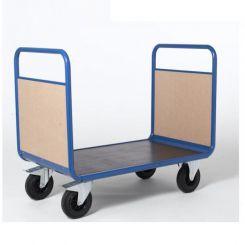 Chariot 2 dossiers en bois