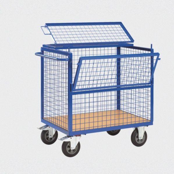 chariot de stockage grillag avec couvercle roll co. Black Bedroom Furniture Sets. Home Design Ideas