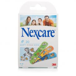 Boîte de 20 pansements Soft Design Kids Nexcare