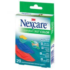 Boîte de 20 pansements Comfort Color 360° Nexcare