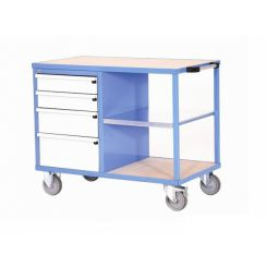 Etabli d'atelier mobile tiroirs et étagère