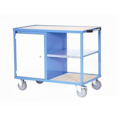 Etabli d'atelier mobile porte et étagère