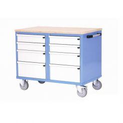 Etabli d'atelier mobile 2 caissons à tiroirs