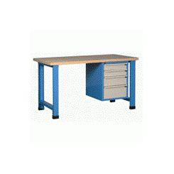 Etabli d'atelier avec bloc tiroir