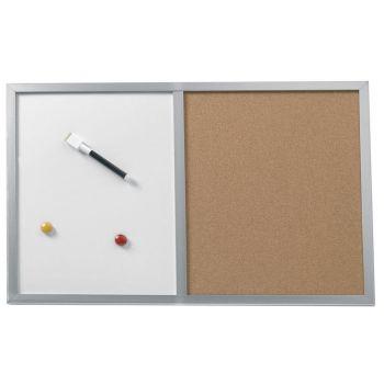 tableau d 39 affichage mixte avec cadre bois roll. Black Bedroom Furniture Sets. Home Design Ideas