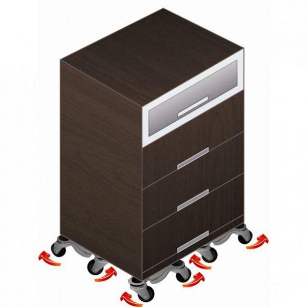 Plateau roulant pour pied de table roll co - Pied pour bureau plateau ...