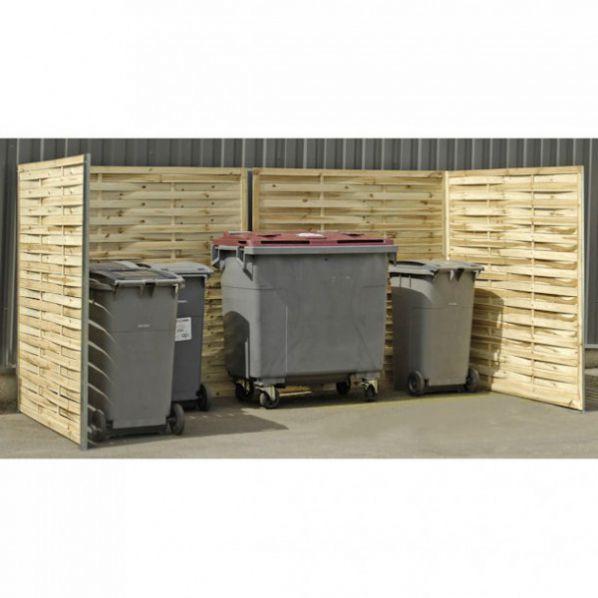 grand cache poubelle en bois roll. Black Bedroom Furniture Sets. Home Design Ideas