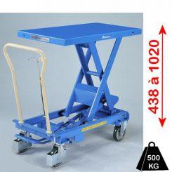 Table élévatrice hydraulique mobile 500 Kg