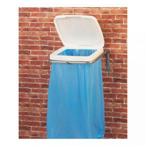 support mural sac poubelle avec couvercle roll. Black Bedroom Furniture Sets. Home Design Ideas
