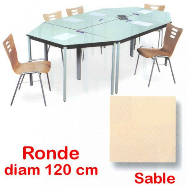 table modulable ronde roll co. Black Bedroom Furniture Sets. Home Design Ideas
