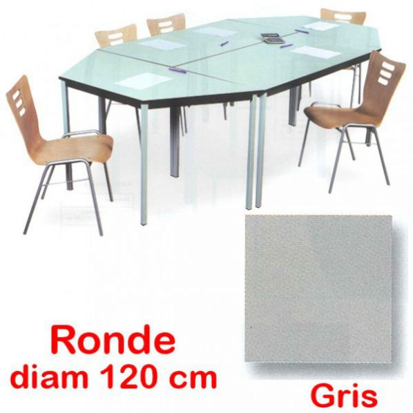 table de r union ronde roll. Black Bedroom Furniture Sets. Home Design Ideas