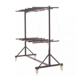 Chariot stockage double pour chaises
