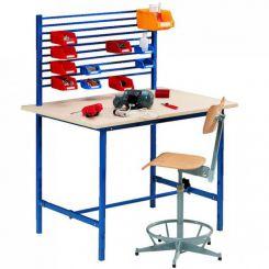 Poste de travail table éco - Avec support bacs