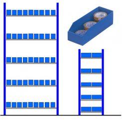 Rayonnage bacs polypro alvéolaires