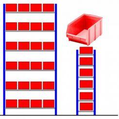 Rayonnage métallique bac éco Rouge