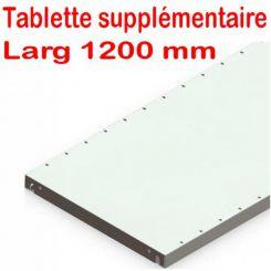 Tablette supplementaire | Rayonnage bureau | Largeur 1200 mm