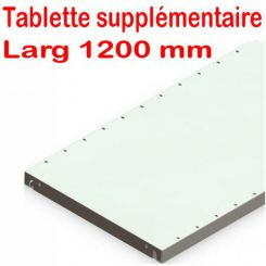 Tablette supplementaire | Rayonnage bureau | Largeur 1200 mm