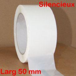 Adhésif PP silencieux blanc 50 mm