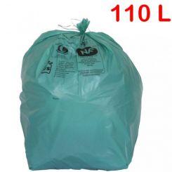 Sac poubelle NFE vert 110L
