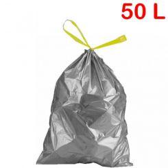 Sac poubelle à liens coulissants 50L 28µ