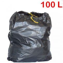 Sac poubelle à liens coulissants 100L