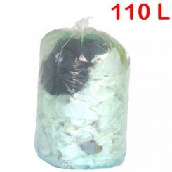 Sac poubelle transparent 110L