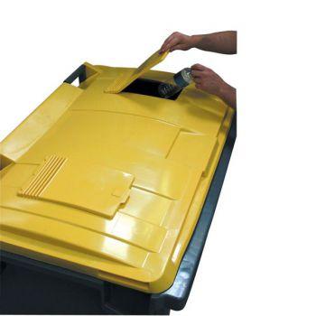 Couvercle opercule emballages avec serrure automatique