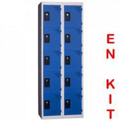 Vestiaire multicases   10 cases   2 colonnes   de 300 mm