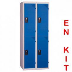 Vestiaire multicases   4 cases   2 colonnes   de 400 mm