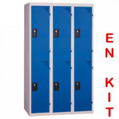 Vestiaire multicases | 6 cases | 3 colonnes | de 400 mm