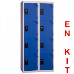 Vestiaire multicases | 8 cases | 2 colonnes | de 400 mm