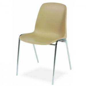 Chaise coque pieds chromés