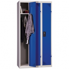 Vestiaire industrie propre | Bleu | 3 cases | livré demonté