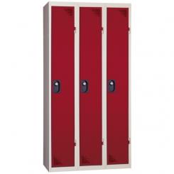 Vestiaire industrie propre | rouge | 3 cases | livré demonté