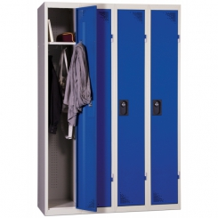 Vestiaire industrie propre | Bleu | 4 cases | livré demonté