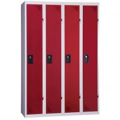 Vestiaire industrie propre | rouge | 4 cases | livré demonté
