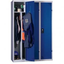 Vestiaire industrie salissante démontable bleu 3 cases