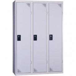 Vestiaire industrie salissante démontable gris 3 cases