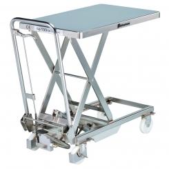 Table élévatrice inox mobile